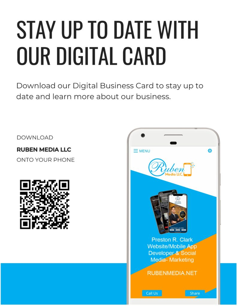 Digital Business Card Promotion Kit